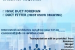 HVAC DUCT FOREMAN DUCT FITTER (MUST KNOW DRAWING)