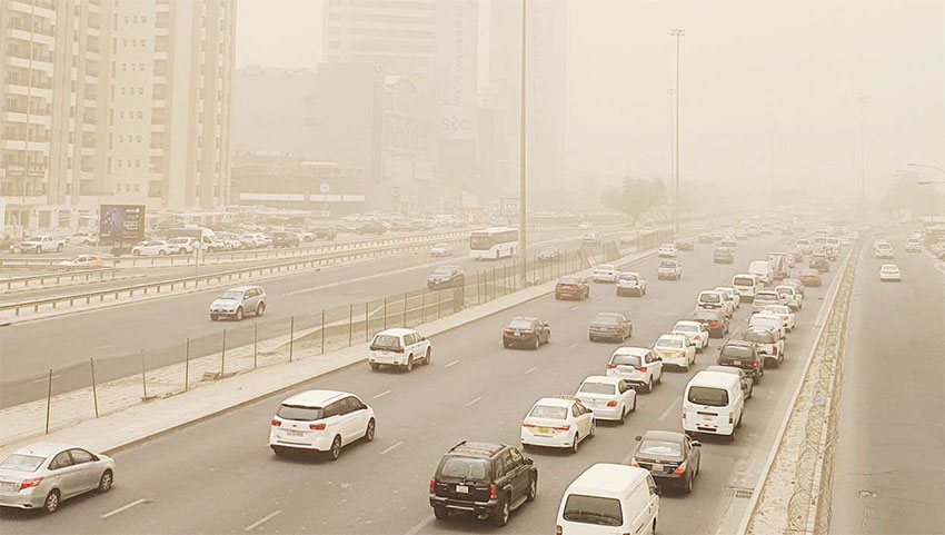 Unstable, dusty weather to continue until end of the week
