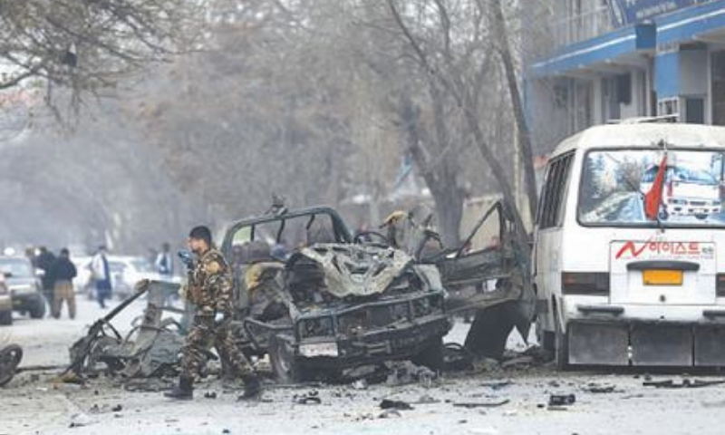 Four killed as series of explosions target police in Kabul